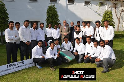 ZHCET Formula Racing team with Vice Chancellor